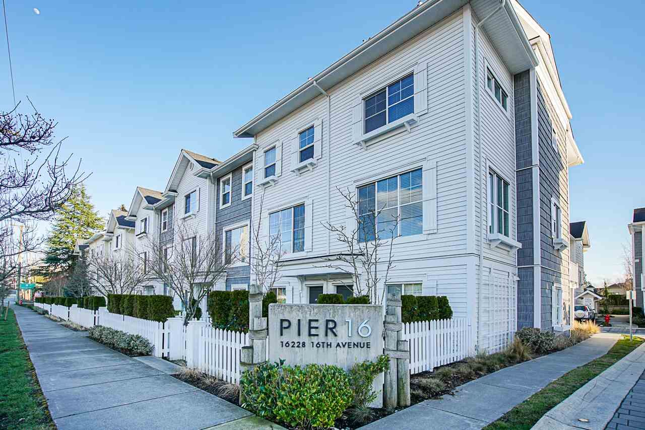 """Main Photo: 7 16228 16 Avenue in Surrey: King George Corridor Townhouse for sale in """"Pier 16"""" (South Surrey White Rock)  : MLS®# R2566766"""