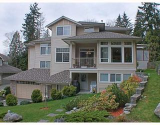 Photo 1: 8 MOSSOM CREEK Drive in Port_Moody: North Shore Pt Moody 1/2 Duplex for sale (Port Moody)  : MLS®# V762195