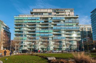 """Photo 1: 410 181 W 1ST Avenue in Vancouver: False Creek Condo for sale in """"The Brook"""" (Vancouver West)  : MLS®# R2614809"""
