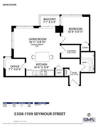 """Photo 18: 2308 1199 SEYMOUR Street in Vancouver: Downtown VW Condo for sale in """"Brava"""" (Vancouver West)  : MLS®# R2541937"""