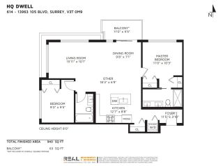 """Photo 34: 614 13963 105 Boulevard in Surrey: Whalley Condo for sale in """"HQ Dwell"""" (North Surrey)  : MLS®# R2584052"""