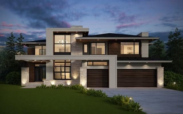 Rendering of house from the City of Calgary approved Development Permit