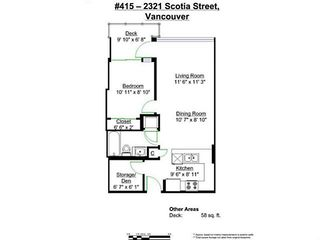 """Photo 19: 415 2321 SCOTIA Street in Vancouver: Mount Pleasant VE Condo for sale in """"SOCIAL"""" (Vancouver East)  : MLS®# V1121141"""