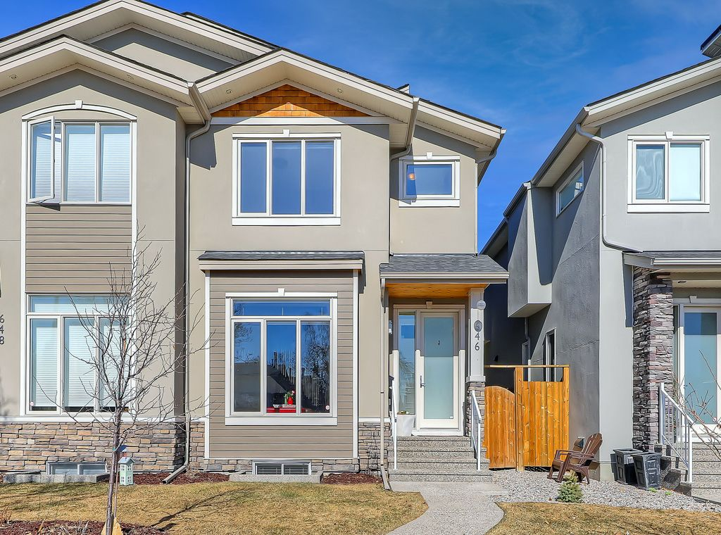 Main Photo: 646 24 Avenue NW in Calgary: Mount Pleasant Semi Detached for sale : MLS®# A1082393