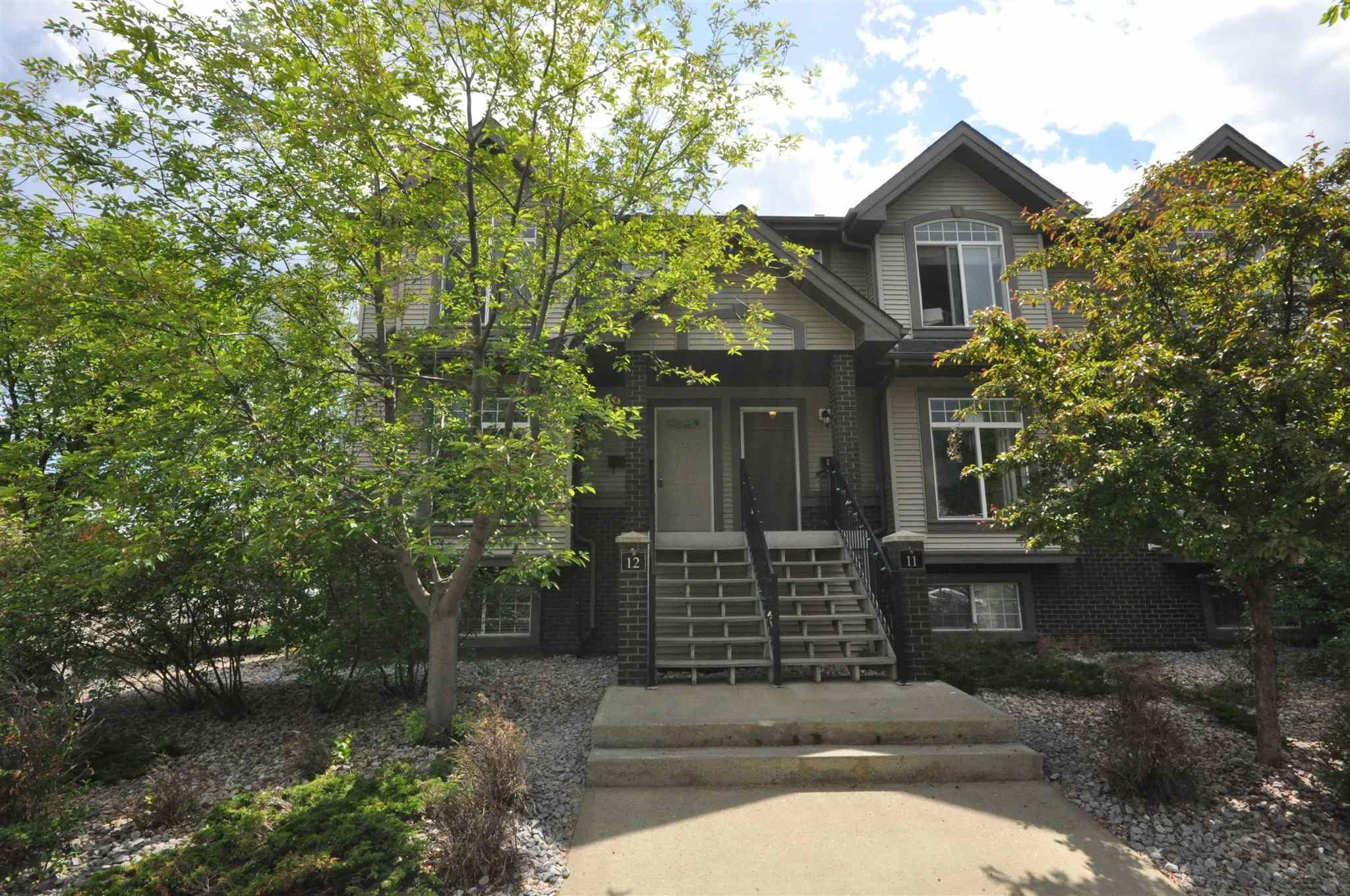 Main Photo: 12 4731 TERWILLEGAR Common in Edmonton: Zone 14 Townhouse for sale : MLS®# E4248559