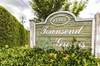 """Photo 1: 137 45185 WOLFE Road in Chilliwack: Chilliwack W Young-Well Townhouse for sale in """"TOWNSEND GREENS"""" : MLS®# R2591837"""