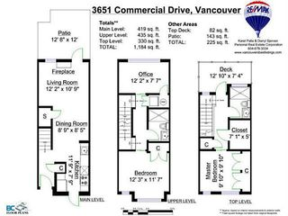 """Photo 3: 3651 COMMERCIAL Street in Vancouver: Victoria VE Townhouse for sale in """"Brix II"""" (Vancouver East)  : MLS®# V1087761"""