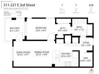 """Photo 23: 311 221 E 3RD Street in North Vancouver: Lower Lonsdale Condo for sale in """"Orizon on Third"""" : MLS®# R2470227"""