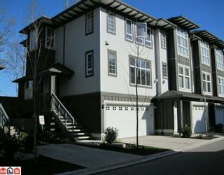 "Photo 1: 135 18777 68A Avenue in Surrey: Clayton Townhouse for sale in ""COMPASS"" (Cloverdale)  : MLS®# F1004663"