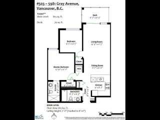 """Photo 22: 503 5981 GRAY Avenue in Vancouver: University VW Condo for sale in """"SAIL"""" (Vancouver West)  : MLS®# R2511579"""