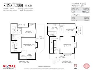 Photo 39: 36 W 14TH AVENUE in Vancouver: Mount Pleasant VW Townhouse for sale (Vancouver West)  : MLS®# R2541841