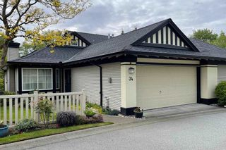 "Photo 1: 34 17917 68 Avenue in Surrey: Cloverdale BC Townhouse for sale in ""Weybridge"" (Cloverdale)  : MLS®# R2577897"