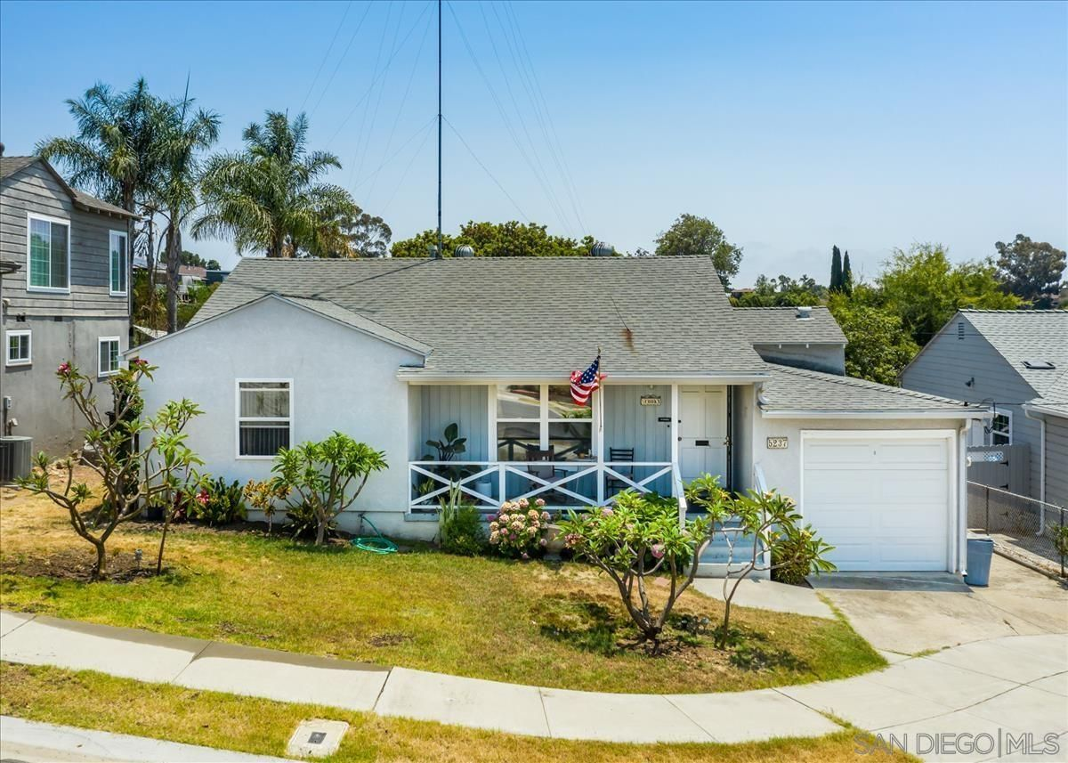 Main Photo: SAN DIEGO House for sale : 3 bedrooms : 5237 Alcorn Pl