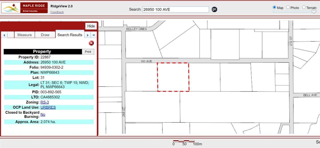Main Photo: 26950 100 Avenue in Maple Ridge: Thornhill MR House for sale : MLS®# R2526301