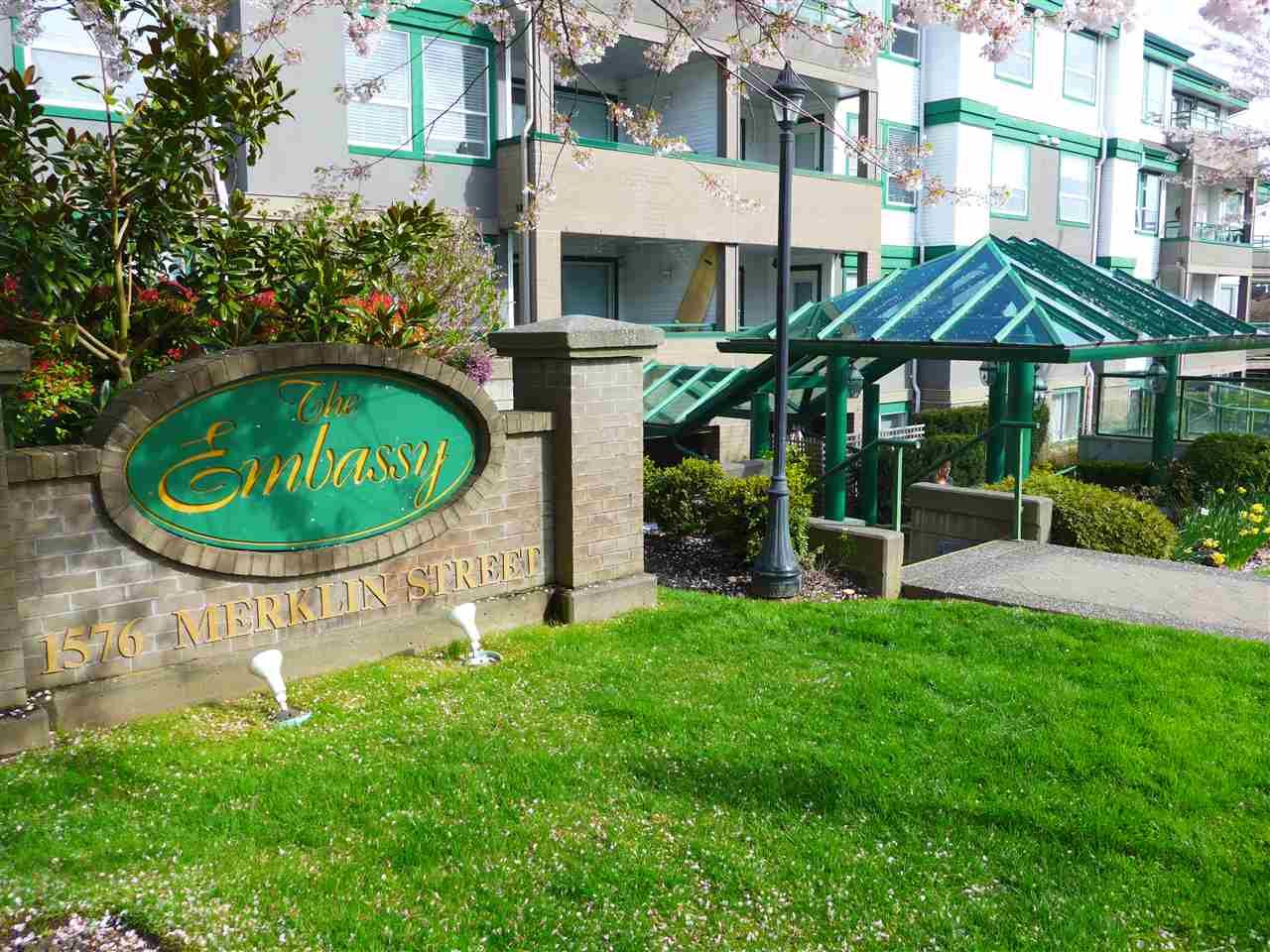 "Main Photo: 201 1576 MERKLIN Street: White Rock Condo for sale in ""The Embassy"" (South Surrey White Rock)  : MLS®# R2259348"