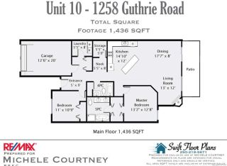 Photo 10: 10 1285 GUTHRIE ROAD in COMOX: CV Comox (Town of) Row/Townhouse for sale (Comox Valley)  : MLS®# 717514