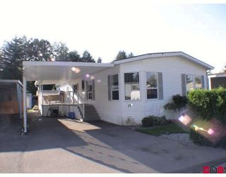 "Photo 1: 27A 24330 FRASER Highway in Langley: Otter District Manufactured Home for sale in ""Langley Grove Estates"" : MLS®# F2825559"