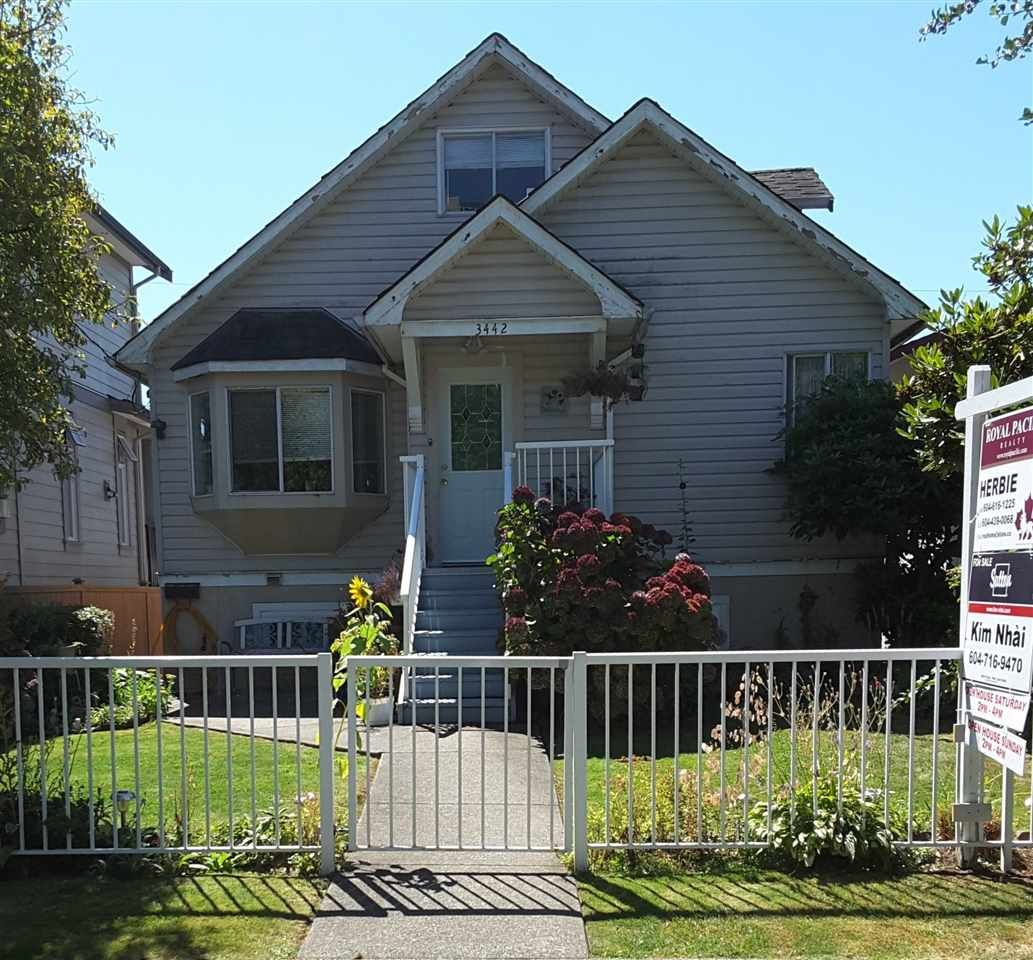 Main Photo: 3442 EUCLID AVENUE in Vancouver: Collingwood VE House for sale (Vancouver East)  : MLS®# R2136472
