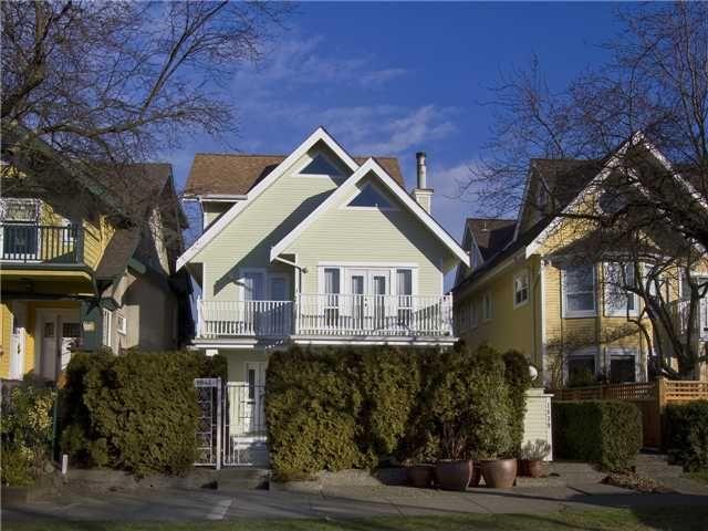 Main Photo: 1839 CREELMAN Avenue in Vancouver: Kitsilano 1/2 Duplex for sale (Vancouver West)  : MLS®# V1047236
