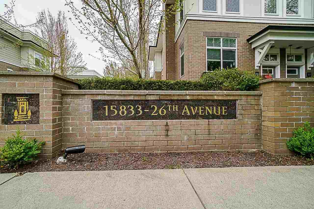 Main Photo: 67 15833 26 Avenue in Surrey: White Rock Townhouse for sale (South Surrey White Rock)  : MLS®# R2590572