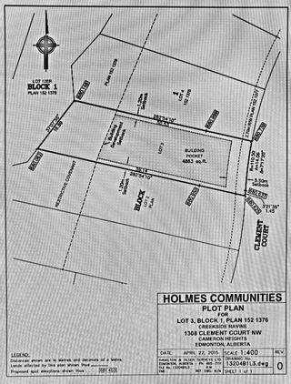 Photo 3: 1308 CLEMENT Court in Edmonton: Zone 20 Vacant Lot for sale : MLS®# E4249926