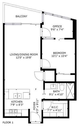 """Photo 10: 2805 833 HOMER Street in Vancouver: Downtown VW Condo for sale in """"Atelier"""" (Vancouver West)  : MLS®# R2597452"""
