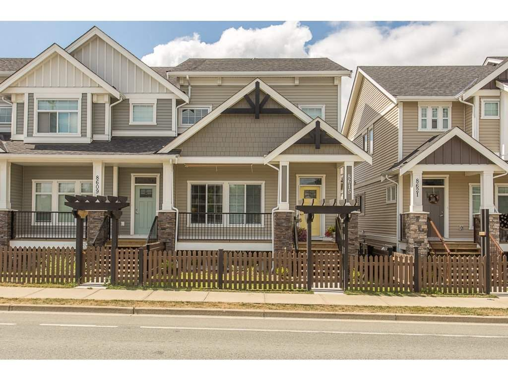 """Main Photo: 8615 CEDAR Street in Mission: Mission BC Condo for sale in """"Cedar Valley Row Homes"""" : MLS®# R2199726"""