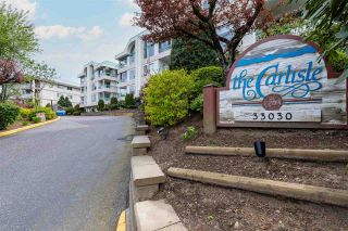 """Photo 1: 114 33030 GEORGE FERGUSON Way in Abbotsford: Central Abbotsford Condo for sale in """"THE CARLISLE"""" : MLS®# R2576142"""