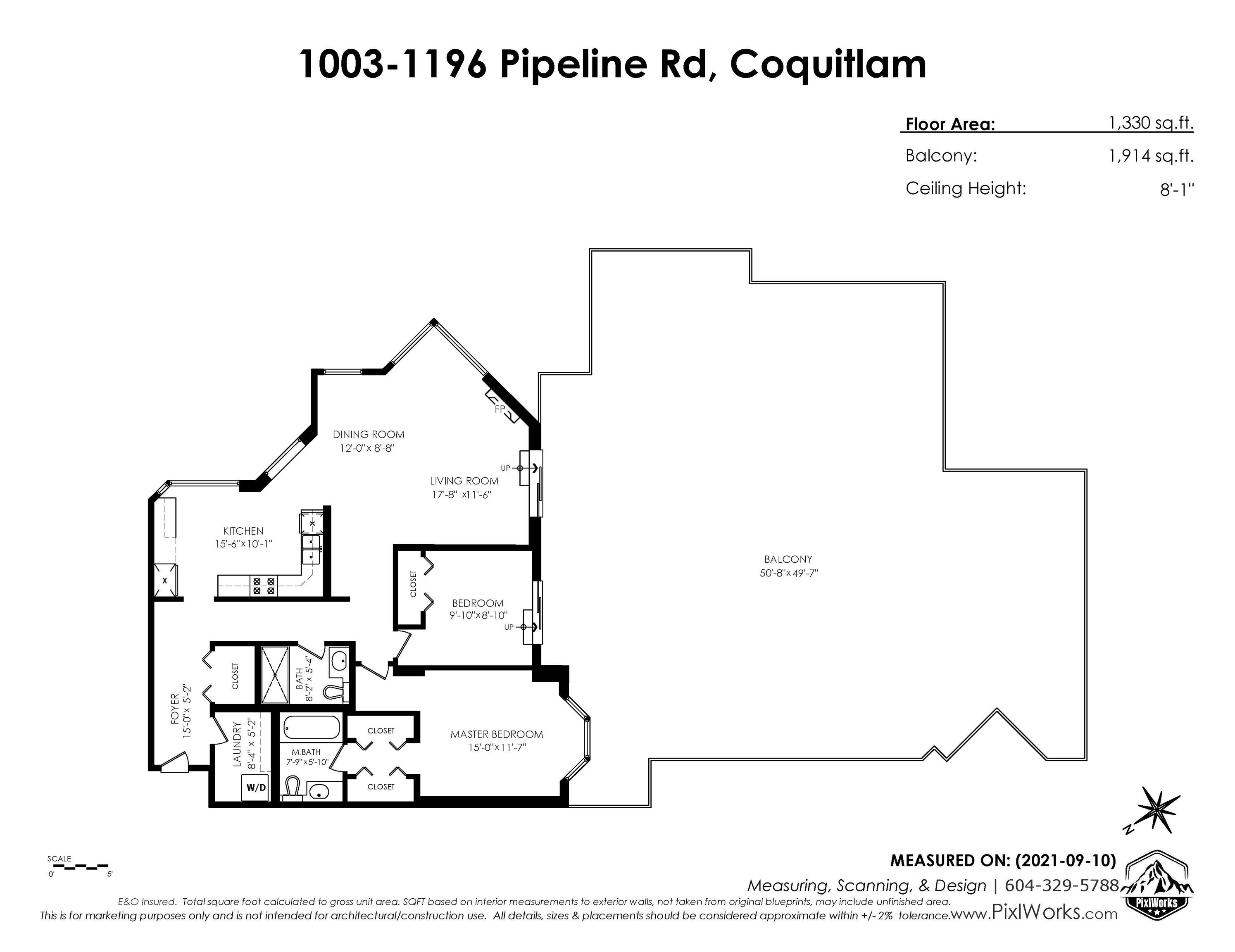 """Main Photo: 1003 1196 PIPELINE Road in Coquitlam: North Coquitlam Condo for sale in """"THE HUDSON"""" : MLS®# R2619914"""