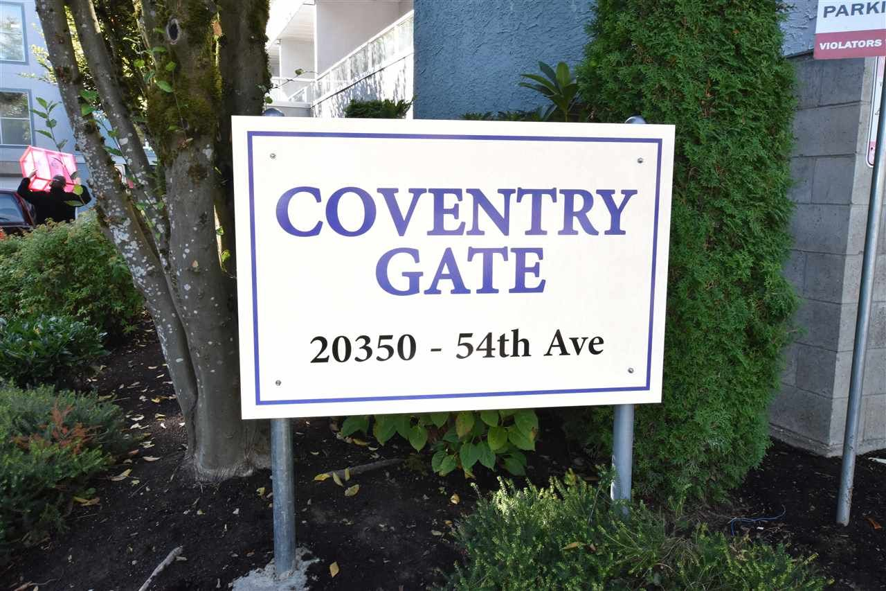 "Main Photo: 109 20350 54 Avenue in Langley: Langley City Condo for sale in ""Coventry Gate"" : MLS®# R2221883"