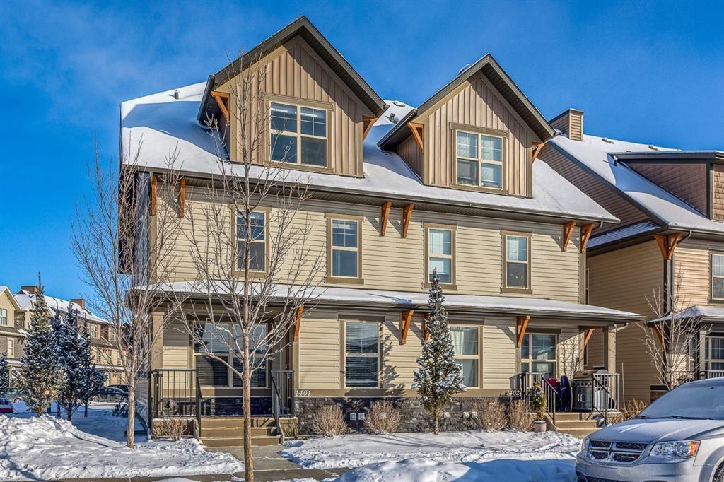 Main Photo: 1401 50 Belgian Lane: Cochrane Row/Townhouse for sale : MLS®# A1069280