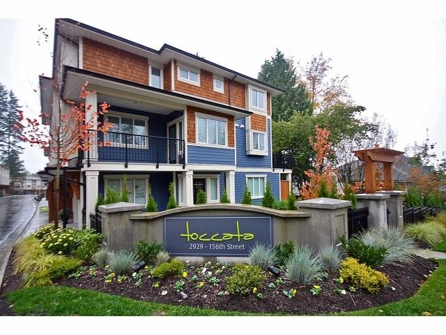 """Main Photo: 16 2929 156TH Street in Surrey: Grandview Surrey Townhouse for sale in """"TOCCATA"""" (South Surrey White Rock)  : MLS®# F1405767"""