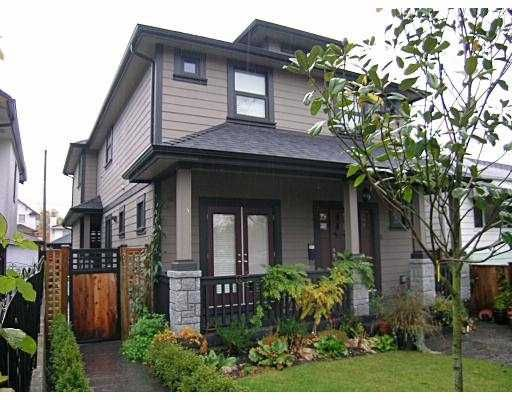 Main Photo: 2171 CHARLES Street in Vancouver: Grandview VE 1/2 Duplex for sale (Vancouver East)  : MLS®# V742808