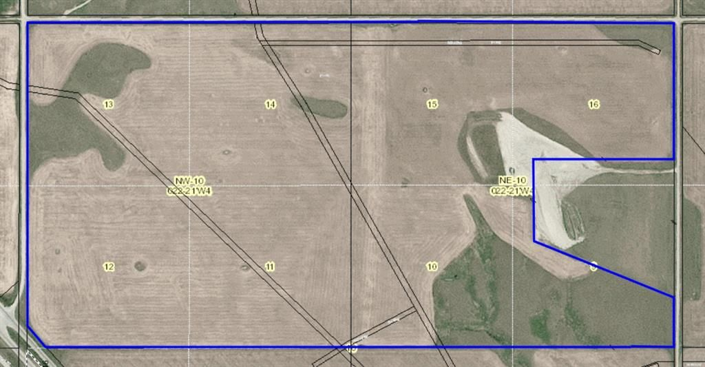 Main Photo: NE 10-22-21-W4M & NW 10-22-21-W4M: Cluny Commercial Land for sale : MLS®# A1095589