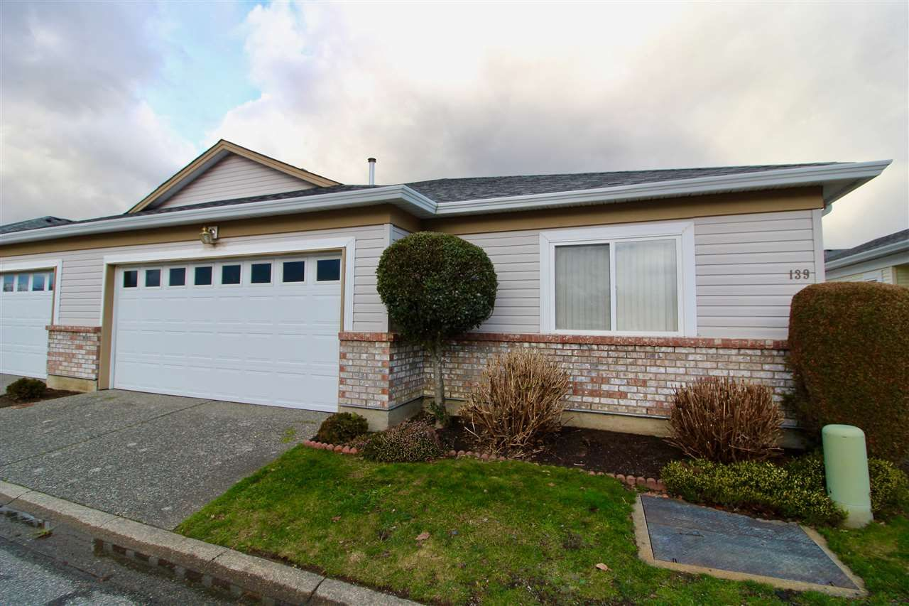 "Main Photo: 139 8485 YOUNG Road in Chilliwack: Chilliwack W Young-Well 1/2 Duplex for sale in ""HAZELWOOD GROVE"" : MLS®# R2234130"