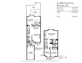 Photo 20: 3 1588 DUTHIE AVENUE in Burnaby: Simon Fraser Univer. Townhouse for sale (Burnaby North)  : MLS®# R2305308