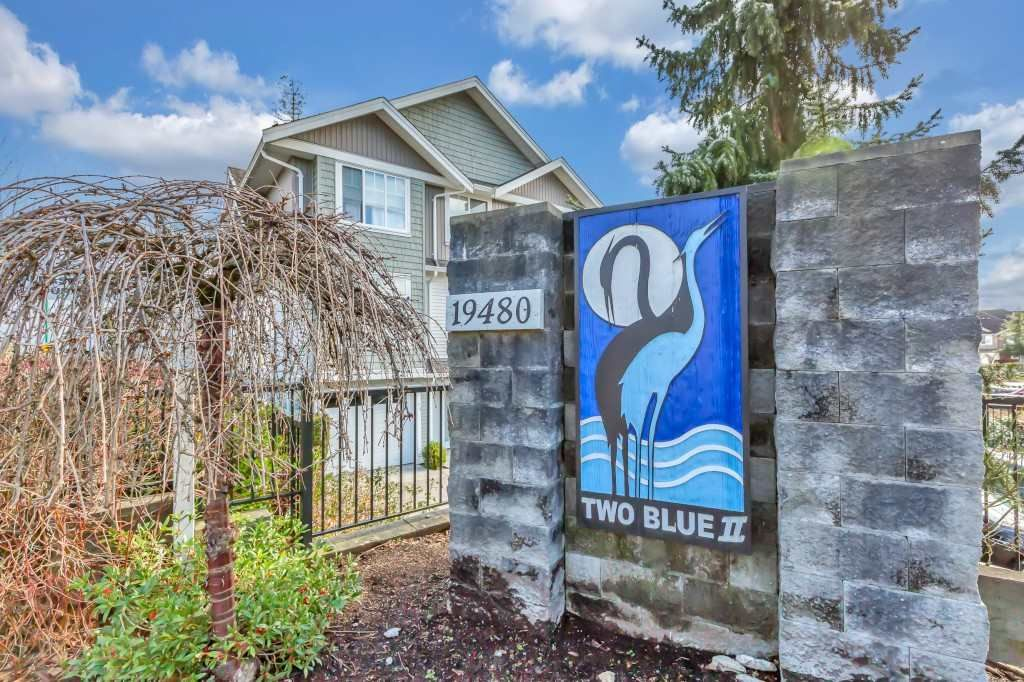 """Main Photo: 63 19480 66 Avenue in Surrey: Clayton Townhouse for sale in """"TWO BLUE II"""" (Cloverdale)  : MLS®# R2537453"""