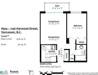 """Photo 15: 904 1146 HARWOOD Street in Vancouver: West End VW Condo for sale in """"Lamplighter"""" (Vancouver West)  : MLS®# R2258222"""