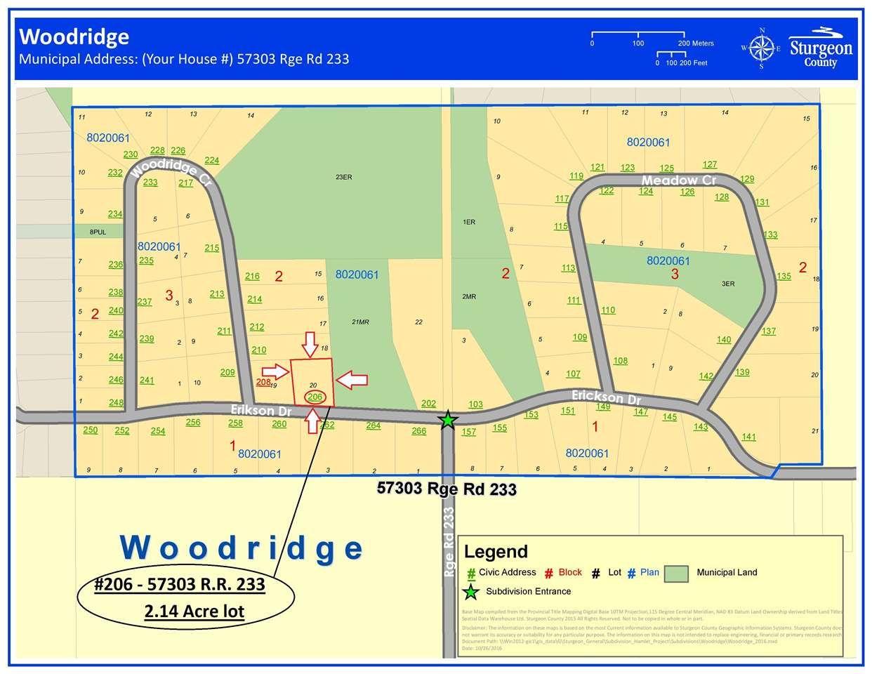 Main Photo: 206 ERICKSON Drive: Rural Sturgeon County Rural Land/Vacant Lot for sale : MLS®# E4188762