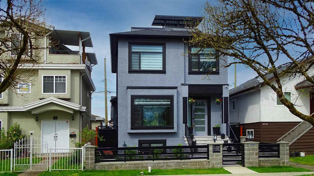 Main Photo: 4753 GLADSTONE Street in Vancouver: Victoria VE House for sale (Vancouver East)  : MLS®# R2573343