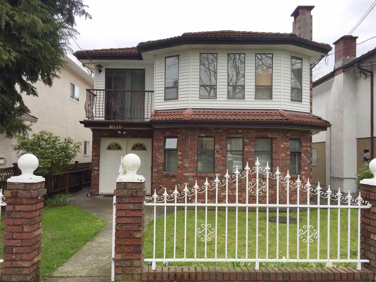 Main Photo: 4070 MILLER STREET in Vancouver: Victoria VE House for sale (Vancouver East)  : MLS®# R2252911