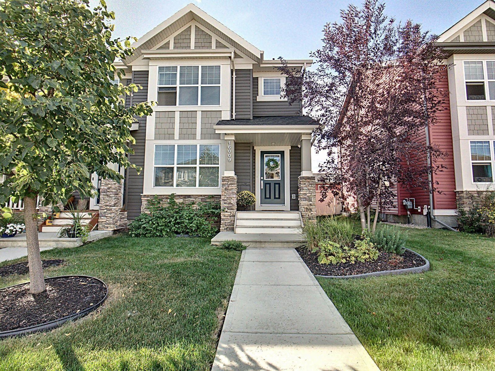 Main Photo: 16009 10 Avenue in Edmonton: Zone 56 House Half Duplex for sale : MLS®# E4262232