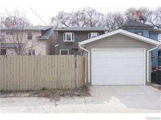 Photo 20: 595 Sherburn Street in Winnipeg: West End / Wolseley Residential for sale (West Winnipeg)  : MLS®# 1610978