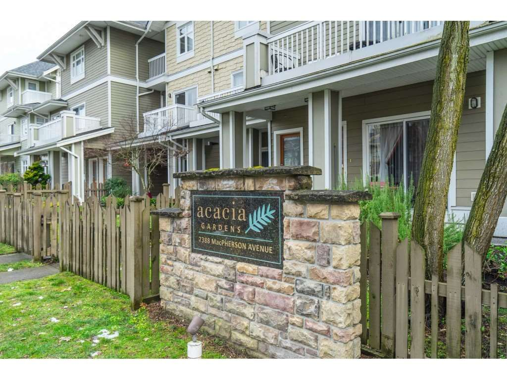 """Main Photo: 79 7388 MACPHERSON Avenue in Burnaby: Metrotown Townhouse for sale in """"Acacia Gardens"""" (Burnaby South)  : MLS®# R2539015"""