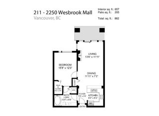 Photo 2: 211 2250 WESBROOK Mall in Vancouver: University VW Condo for sale (Vancouver West)  : MLS®# R2510294