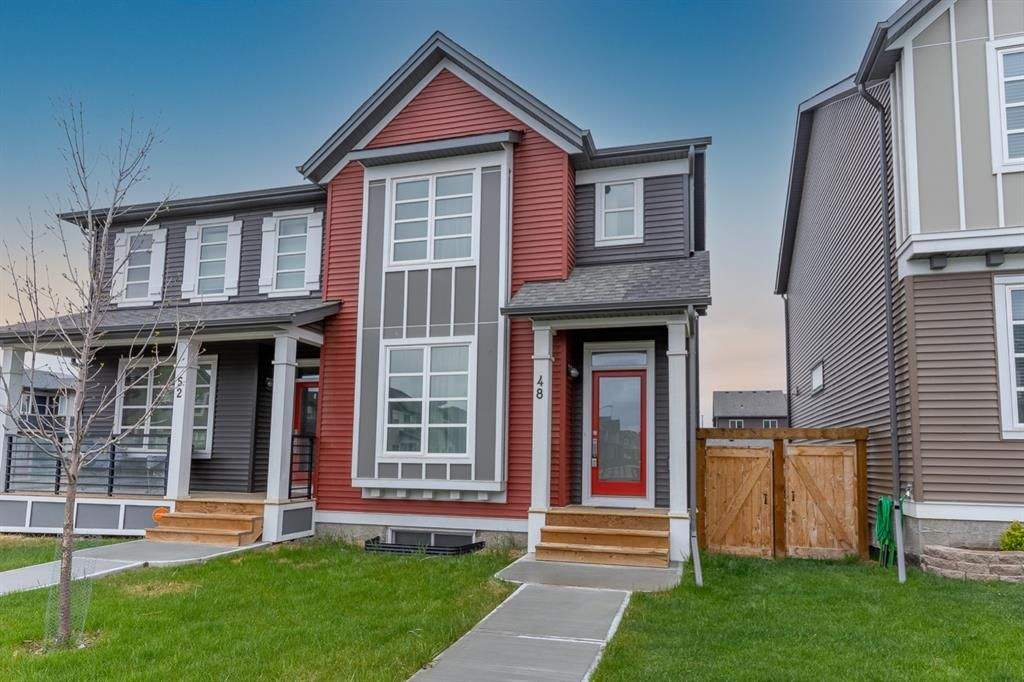 Main Photo: 48 Carringvue Link NW in Calgary: Carrington Semi Detached for sale : MLS®# A1111078