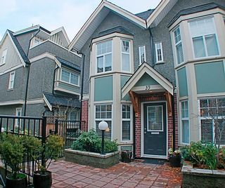 Photo 1: 10-1642 E. Georgia Street in Vancouver: Hastings Townhouse for sale (Vancouver East)  : MLS®# V799553