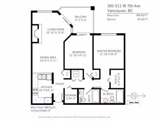 """Photo 17: 305 511 W 7TH Avenue in Vancouver: Fairview VW Condo for sale in """"Beverly Gardens"""" (Vancouver West)  : MLS®# R2221770"""