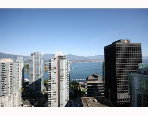 """Photo 6: Photos: 2701 1188 W PENDER Street in Vancouver: Coal Harbour Condo for sale in """"SHAPPHIRE"""" (Vancouver West)  : MLS®# V790032"""