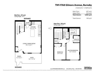 """Photo 20: TH1 1768 GILMORE Avenue in Burnaby: Willingdon Heights Townhouse for sale in """"Escala"""" (Burnaby North)  : MLS®# R2418211"""
